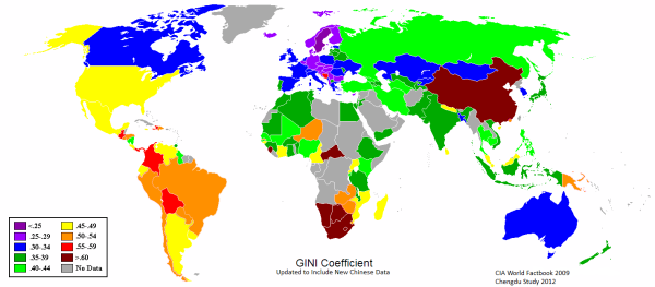 Gini Coefficient Map